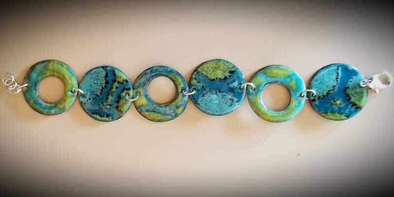 custom contemporary enameled jewelry bracelet portsmouth nh 1