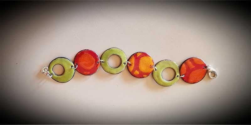 custom contemporary enameled jewelry bracelet portsmouth nh 2