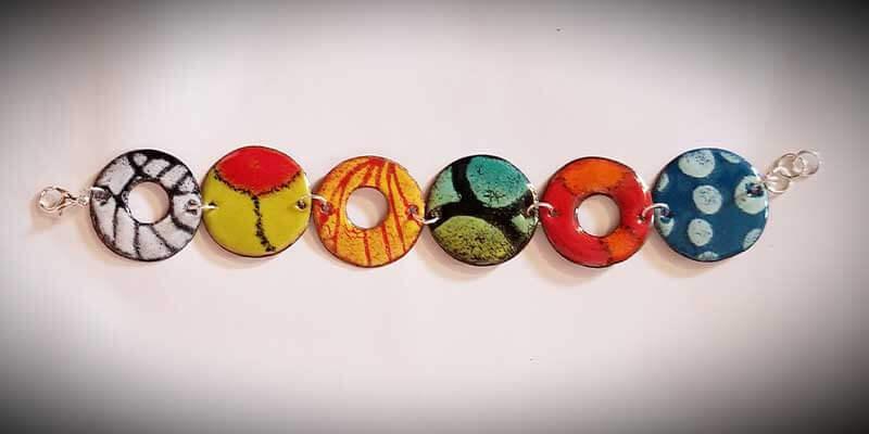 custom contemporary enameled jewelry bracelet portsmouth nh 3