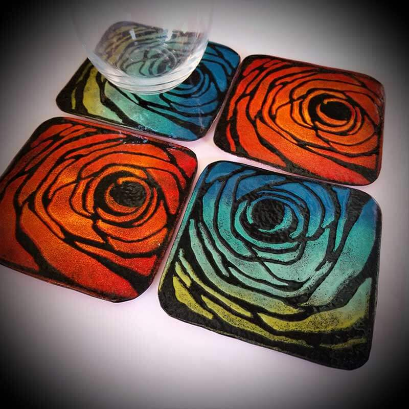custom contemporary enameled coasters portsmouth nh 7