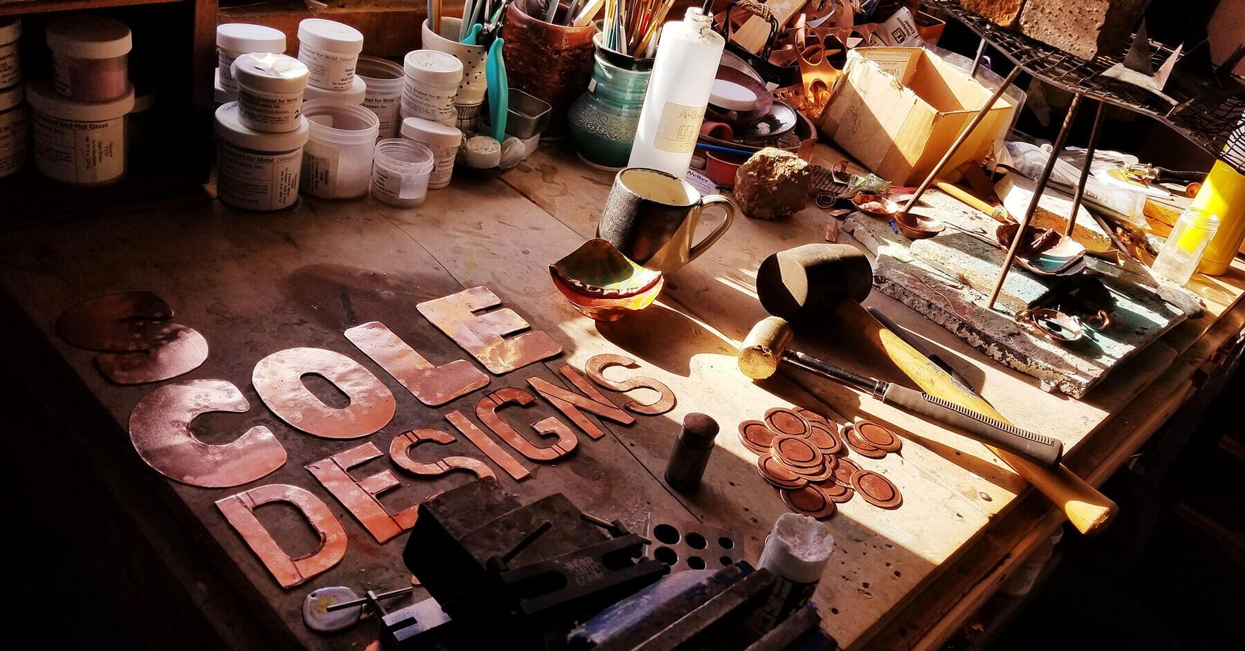 custom contemporary enameled salt cellar maker s cole designs portsmouth nh