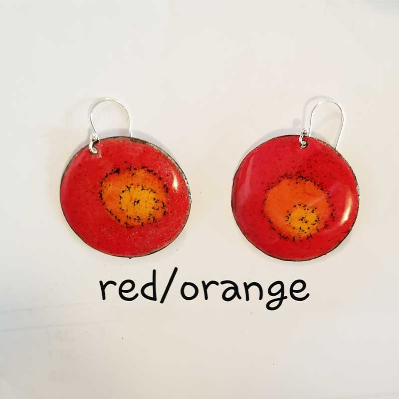 custom contemporary enameled jewelry earring maker portsmouth nh 1