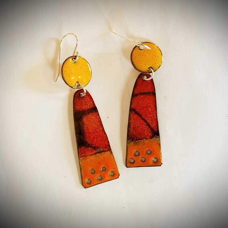 custom contemporary enameled jewelry earring maker portsmouth nh 11