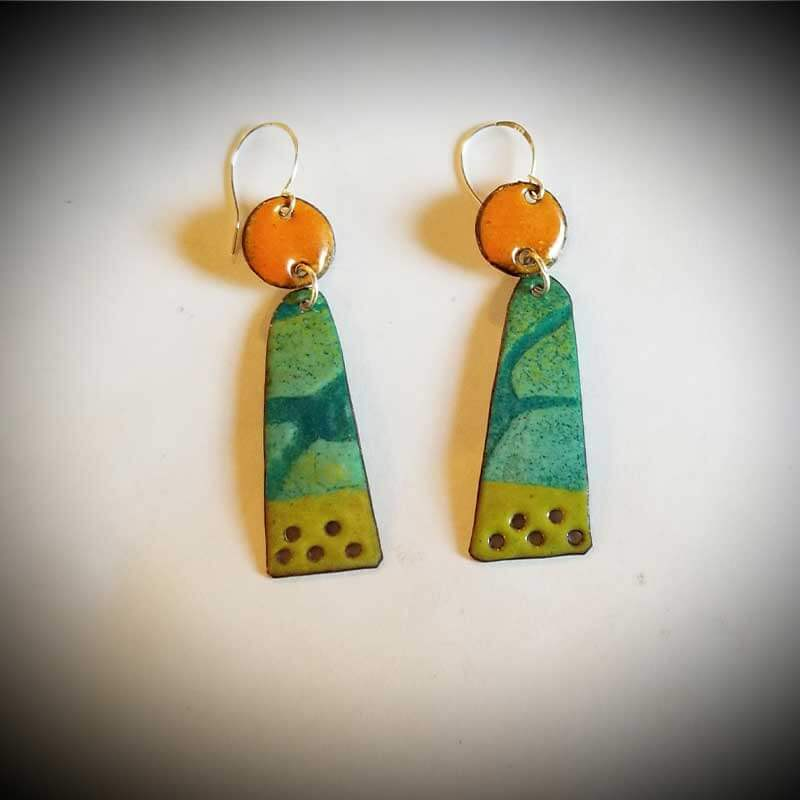 custom contemporary enameled jewelry earring maker portsmouth nh 13