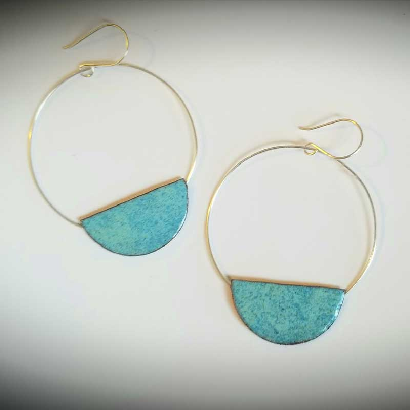 custom contemporary enameled jewelry earring maker portsmouth nh 17