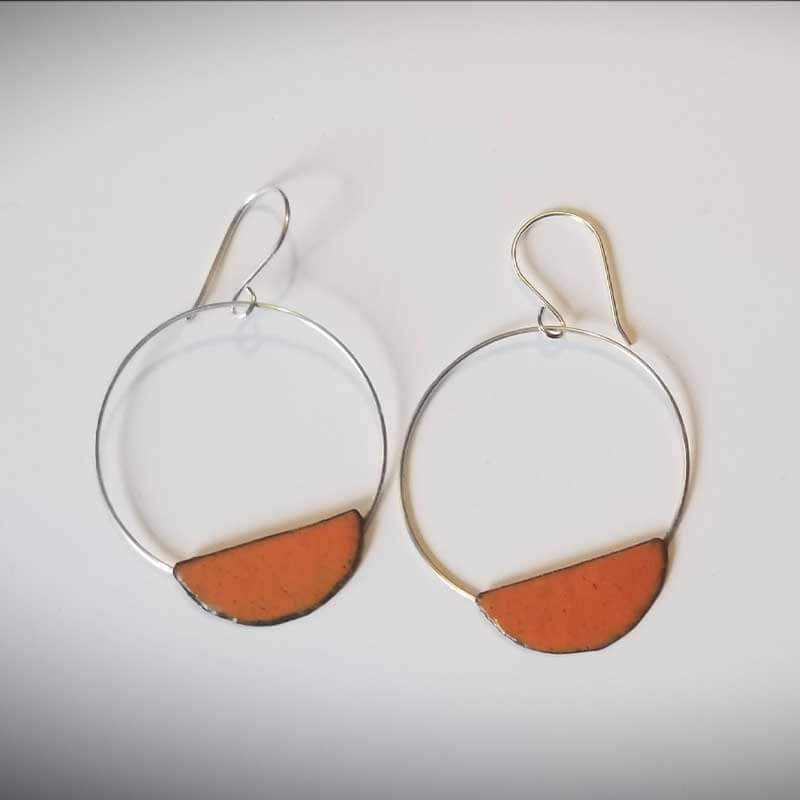 custom contemporary enameled jewelry earring maker portsmouth nh 18