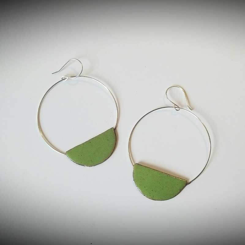 custom contemporary enameled jewelry earring maker portsmouth nh 22