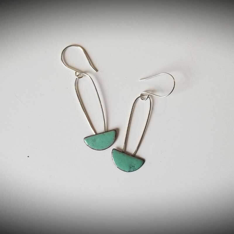 custom contemporary enameled jewelry earring maker portsmouth nh 21