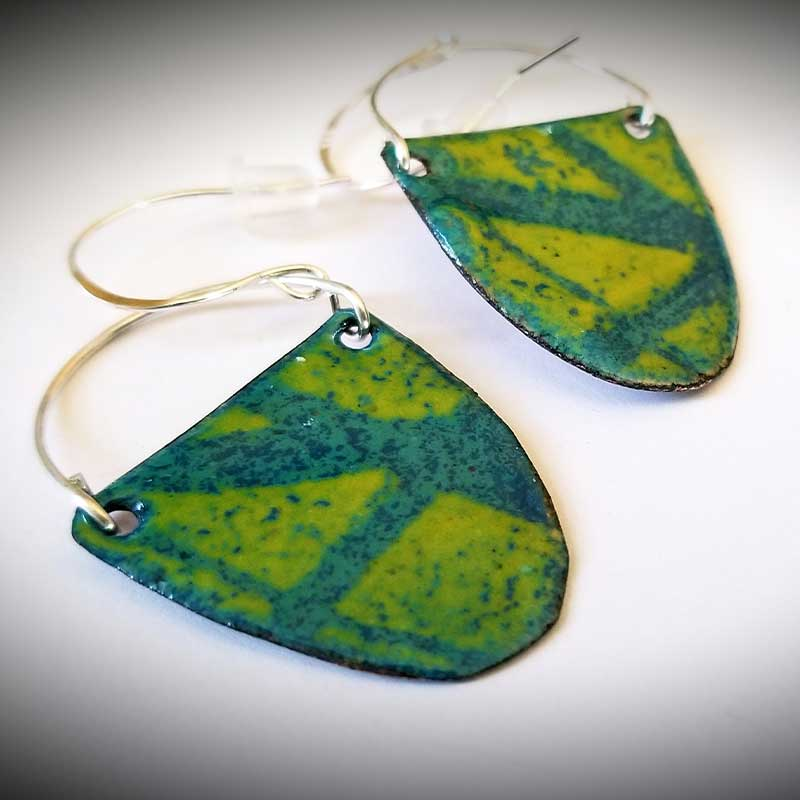 custom contemporary enameled jewelry earring maker portsmouth nh 23