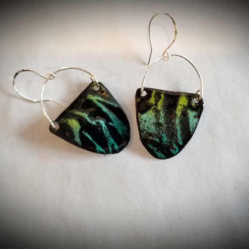 custom contemporary enameled jewelry earring maker portsmouth nh 25