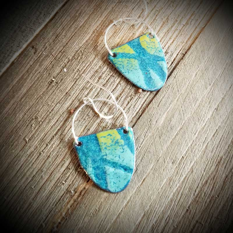 custom contemporary enameled jewelry earring maker portsmouth nh 27
