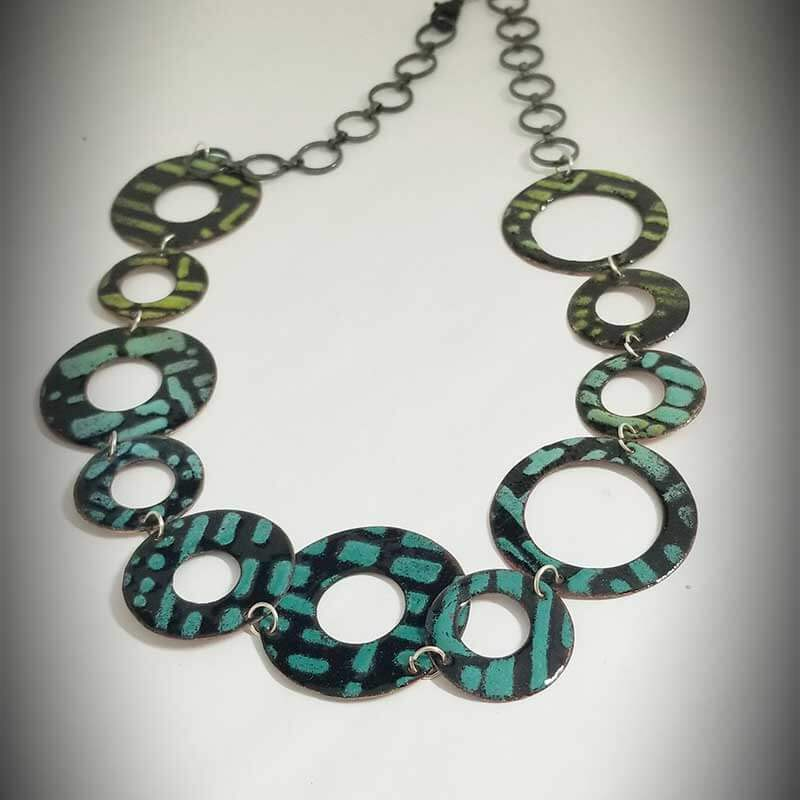 custom contemporary enameled jewelry necklace maker portsmouth nh 1