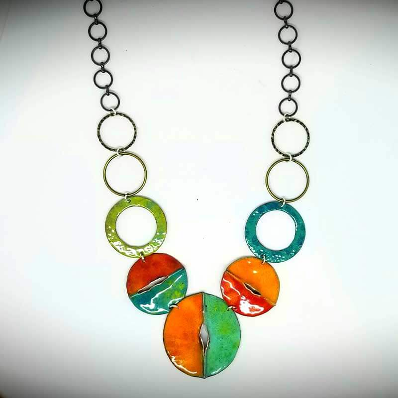 custom contemporary enameled jewelry necklace maker portsmouth nh 2