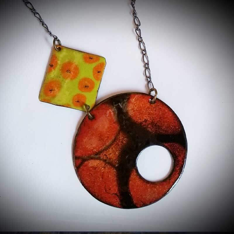 custom contemporary enameled jewelry geo necklace maker portsmouth nh 10