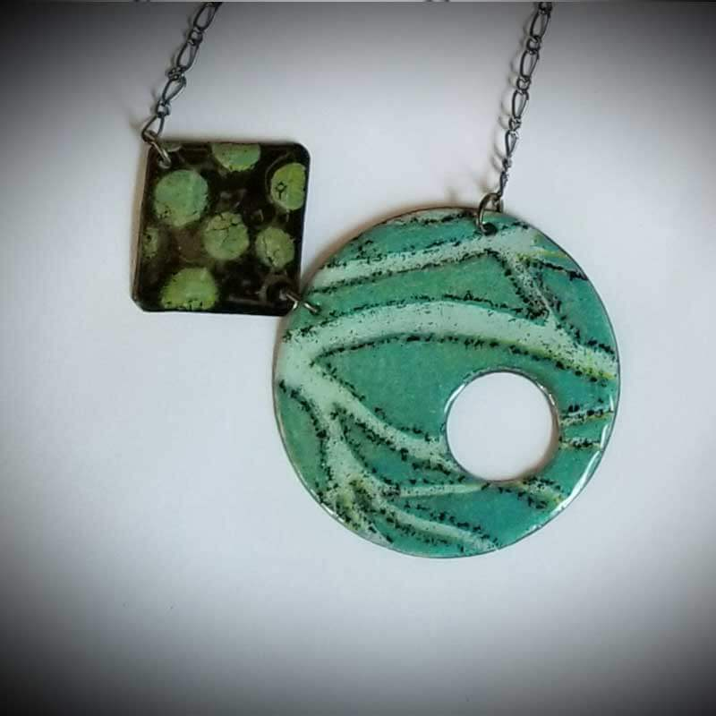 custom contemporary enameled jewelry geo necklace maker portsmouth nh 11