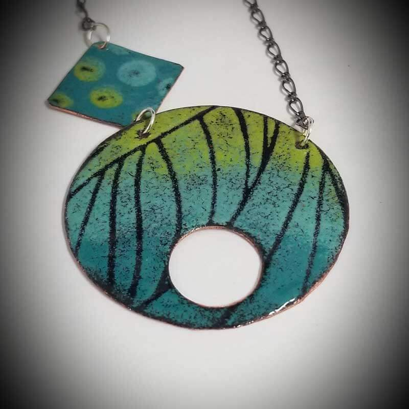 custom contemporary enameled jewelry geo necklace maker portsmouth nh 12
