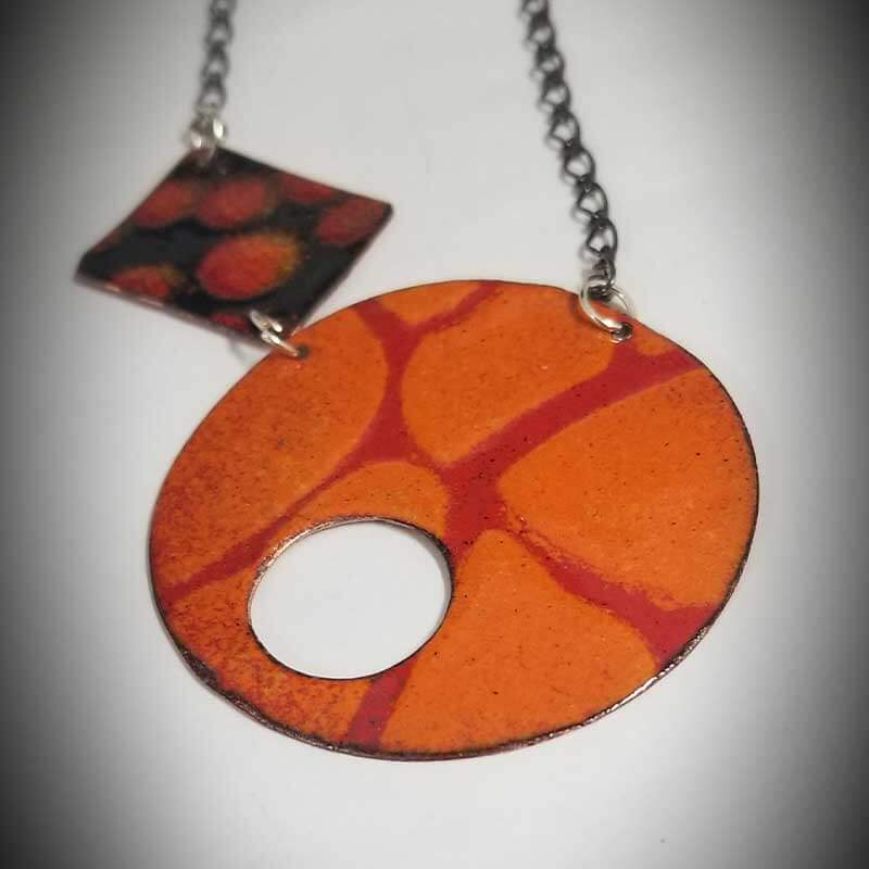 custom contemporary enameled jewelry geo necklace maker portsmouth nh 3