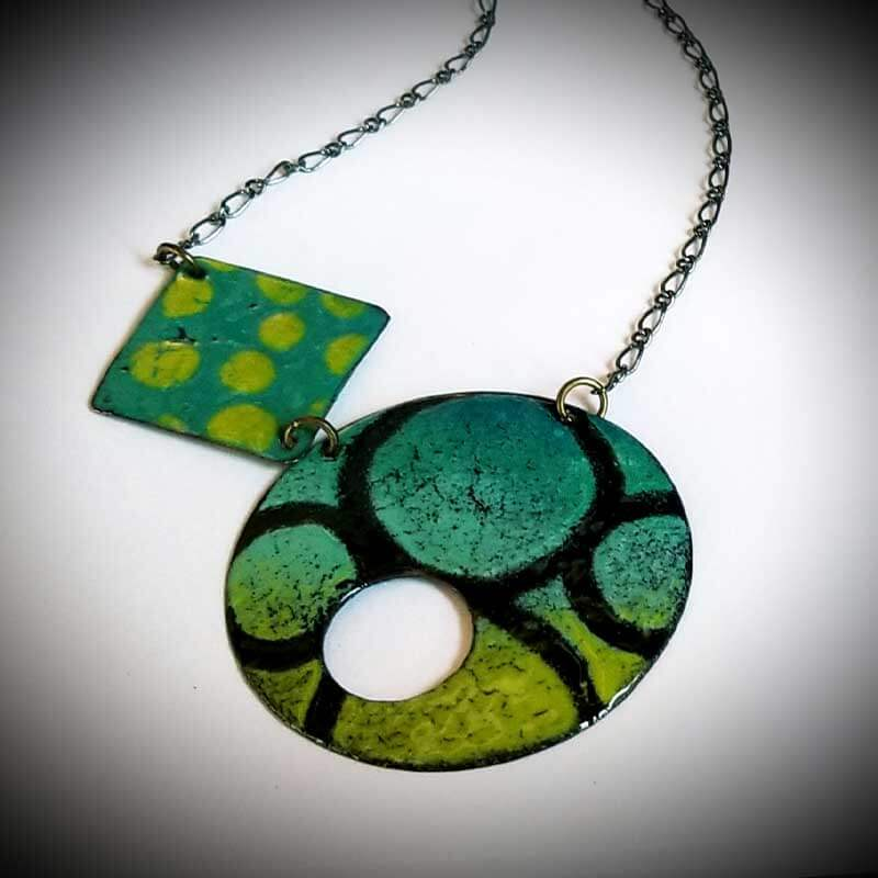 custom contemporary enameled jewelry geo necklace maker portsmouth nh 4