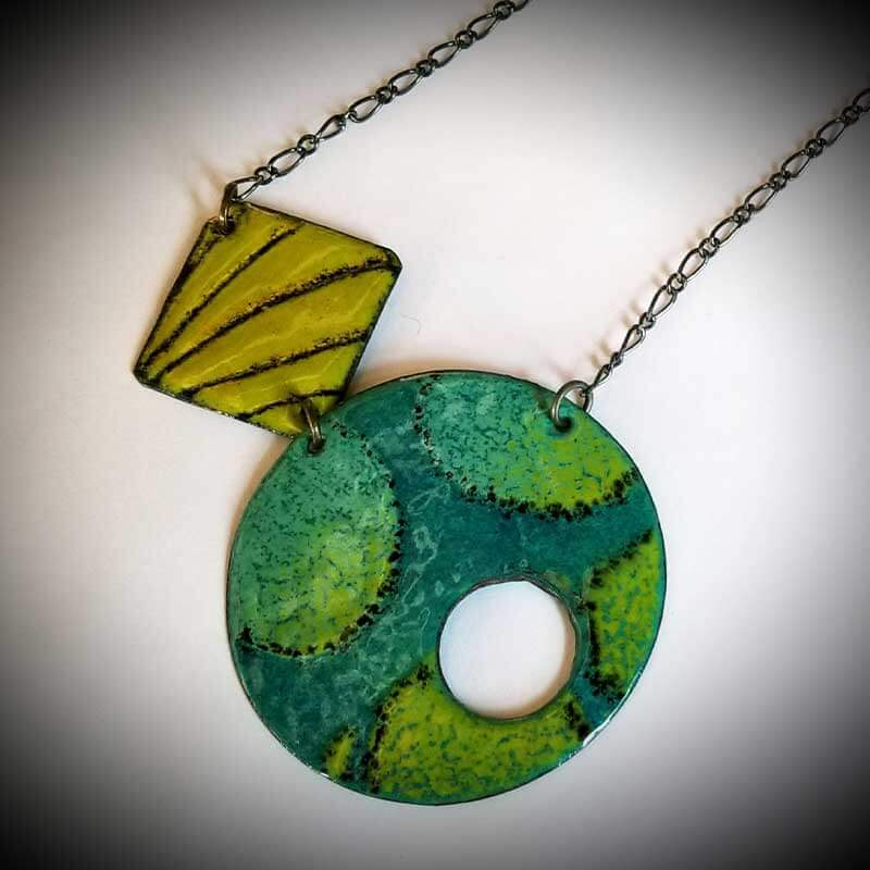 custom contemporary enameled jewelry geo necklace maker portsmouth nh 5