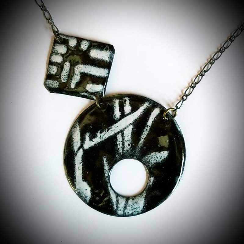 custom contemporary enameled jewelry geo necklace maker portsmouth nh 6