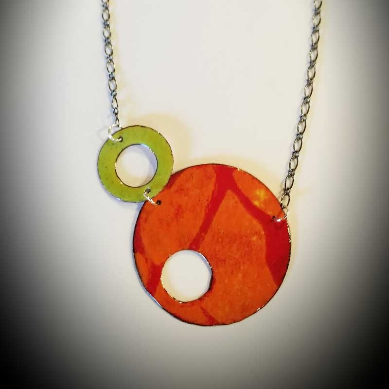 custom contemporary enameled jewelry geo necklace maker portsmouth nh 7