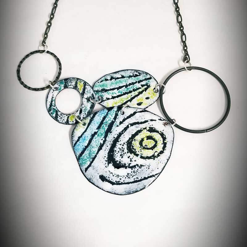 custom contemporary enameled jewelry graffito necklace maker portsmouth nh 2