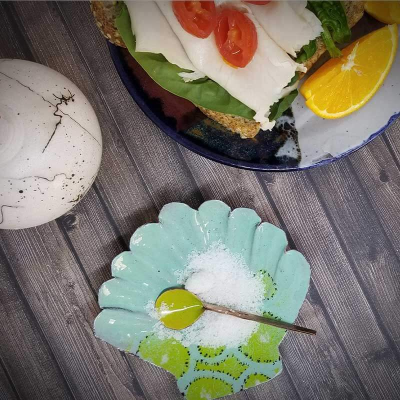custom contemporary enamelware seashell salt cellars maker portsmouth nh 3