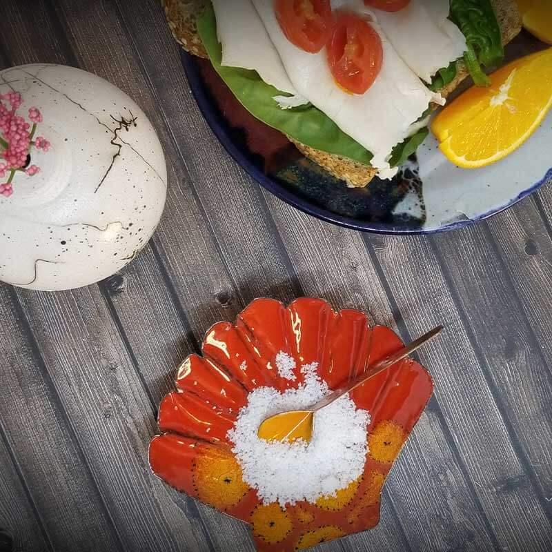 custom contemporary enamelware seashell salt cellars maker portsmouth nh 8
