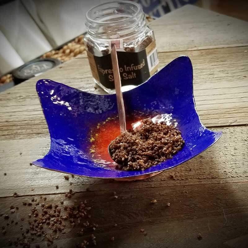 custom contemporary enamelware wavy salt cellars maker portsmouth nh 1