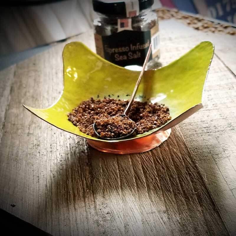 custom contemporary enamelware wavy salt cellars maker portsmouth nh 3