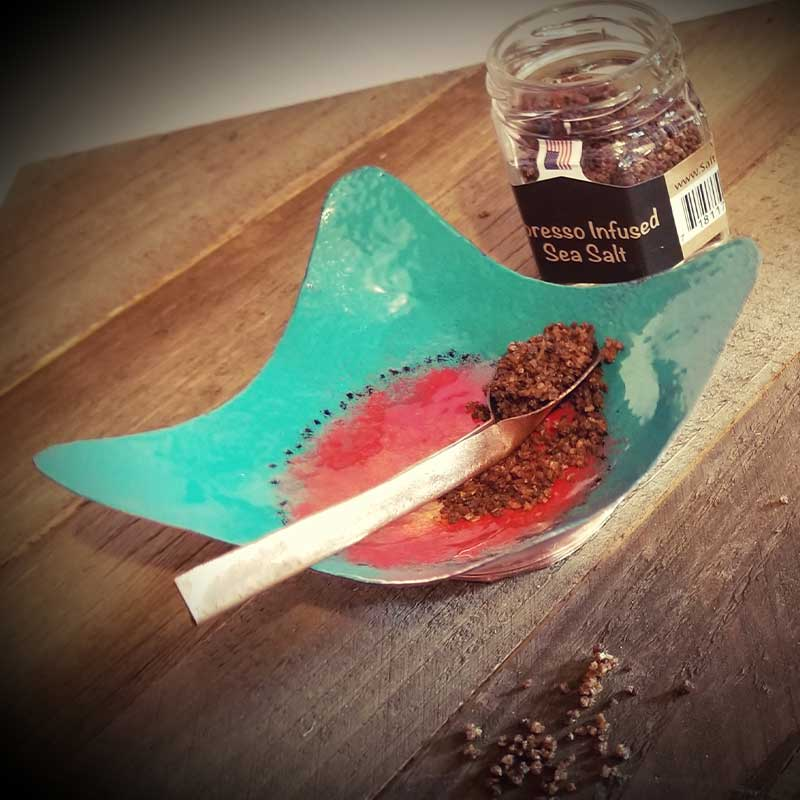 custom contemporary enamelware wavy salt cellars maker portsmouth nh 6