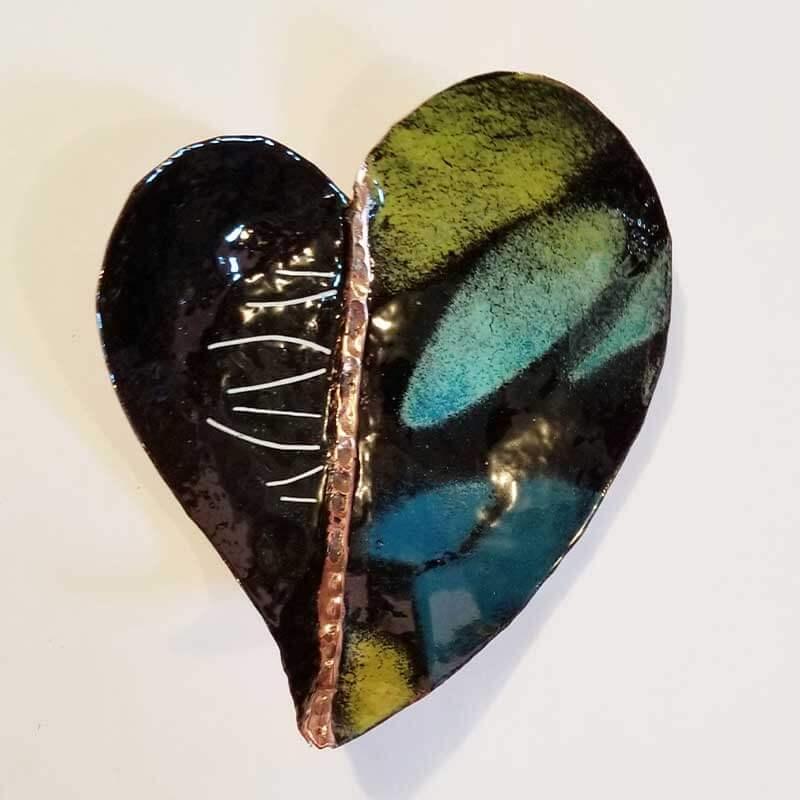 custom contemporary enamelware french blue heart bowl maker portsmouth nh 2
