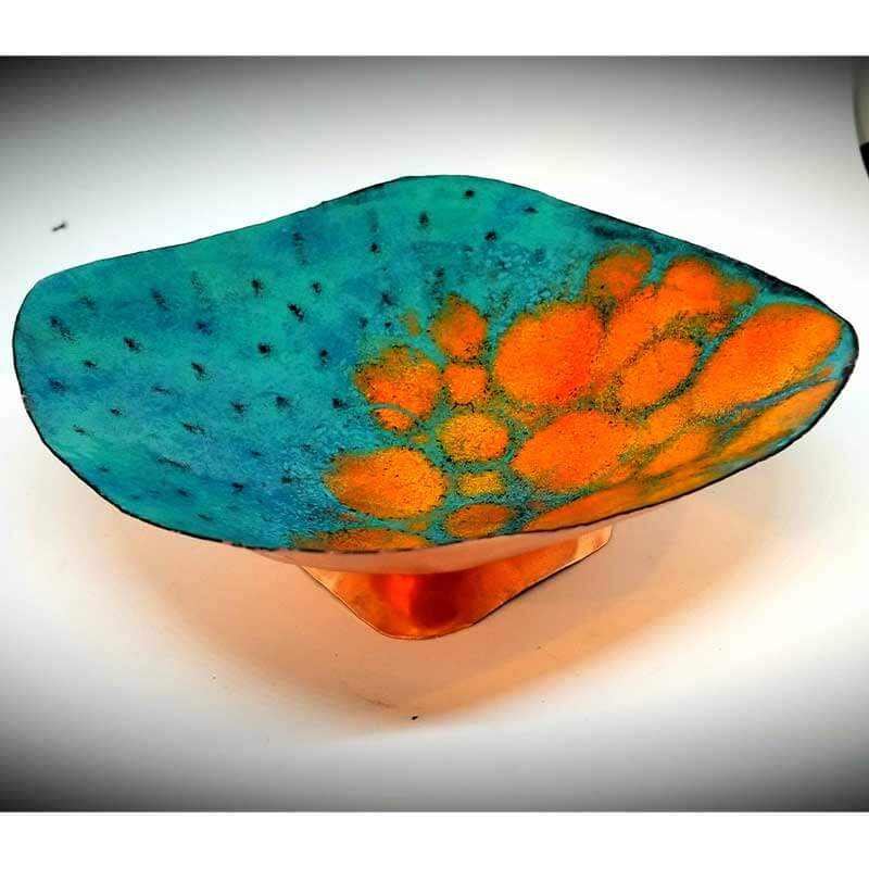 custom contemporary enamelware large abstract bowl maker portsmouth nh 1