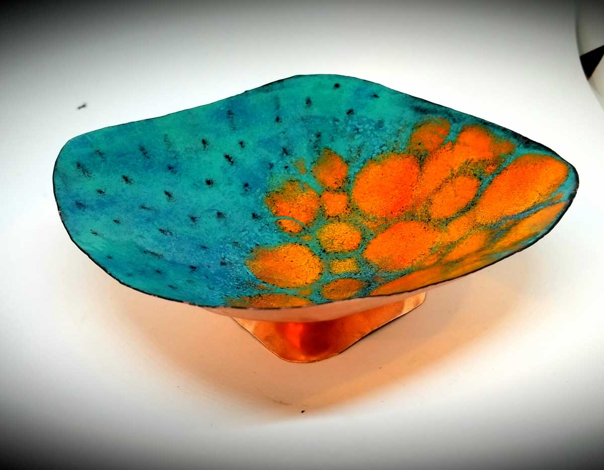 custom contemporary enamelware large abstract bowl maker portsmouth nh