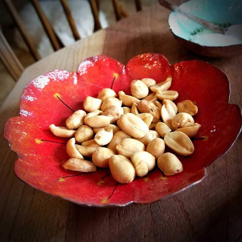 custom contemporary enamelware large poppy bowl maker portsmouth nh 1